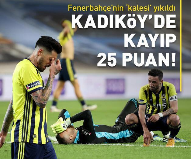 Son dakika: Fenerbahçe Kadıköy'de 25 puan kaybetti!