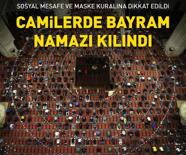 Son dakika: Türkiye'de camilerde bayram namazı kılındı