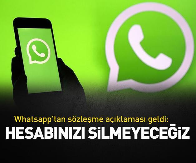 Son dakika: Whatsapp'tan sözleşme açıklaması geldi