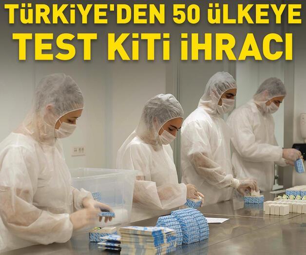 Son dakika: Türkiye'den 50 ülkeye test kiti ihracı