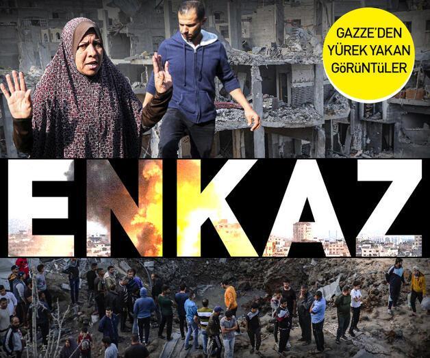 Son dakika: Gazze'de bombalanan evler enkaz yığınına döndü