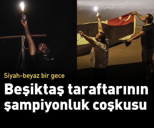 Son dakika: Beşiktaşlı taraftarlar şampiyonluğu kutluyor!