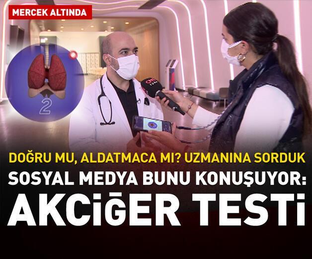 Son dakika: Sosyal medya bunu konuşuyor: Akciğer testi