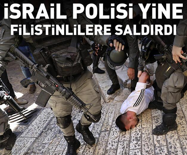 Son dakika: İsrail polisi Filistinlilere plastik mermi ve ses bombalarıyla saldırdı
