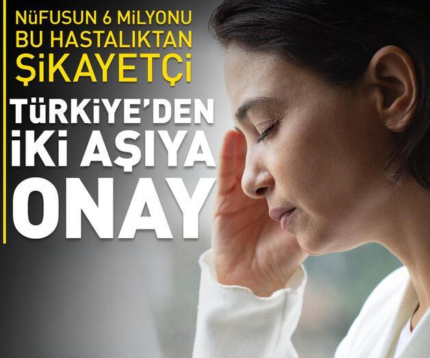 Son dakika: Türkiye migren ataklarını önleyen iki aşıya onay verdi
