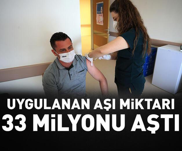 Son dakika: Kovid-19'la mücadele kapsamında uygulanan aşı miktarı 33 milyonu aştı