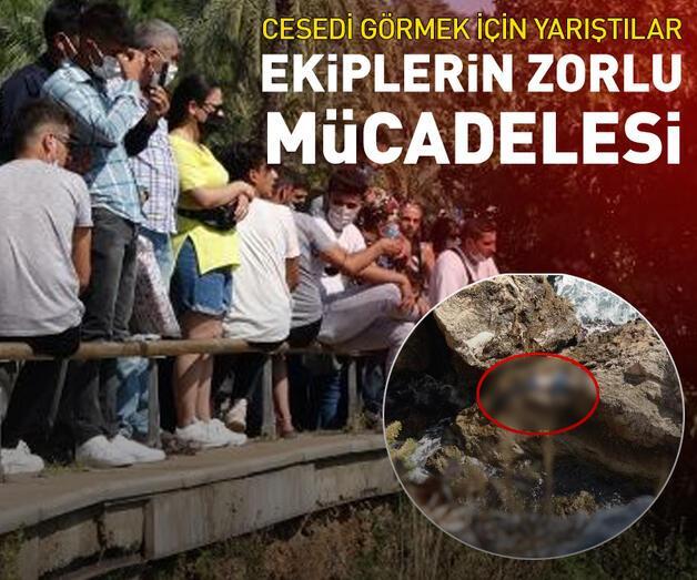 Son dakika: Vatandaşlar cesedi görmek için yarıştı