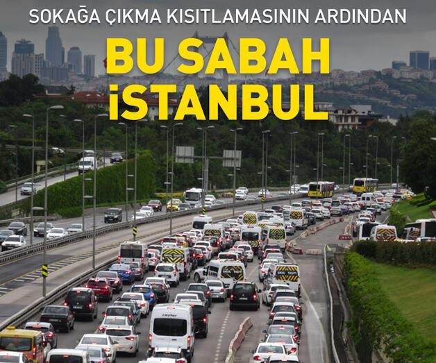 Son dakika: Kısıtlama sonrası 15 Temmuz Şehitler Köprüsü'nde trafik yoğunluğu