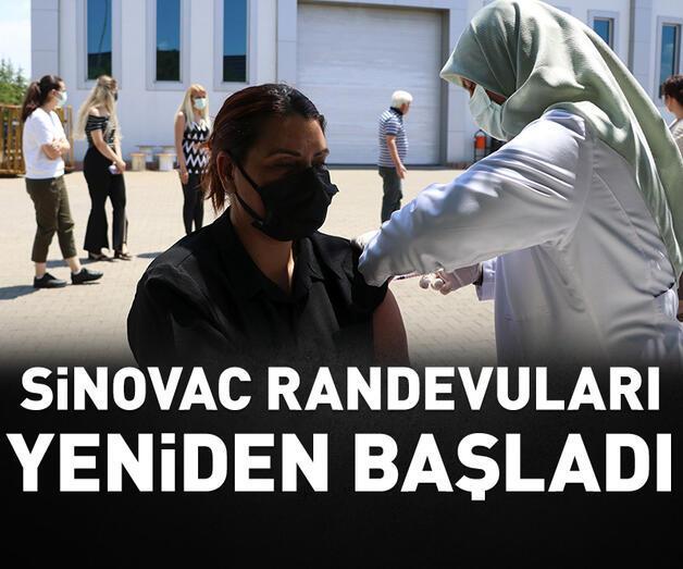 Son dakika: Sinovac aşıları için yeniden randevu verilmeye başlandı