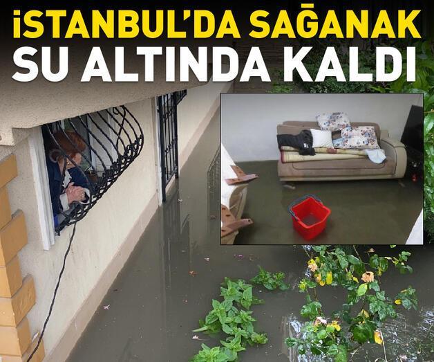 Son dakika: İstanbul'da yağmur: Ev ve iş yerlerini su bastı