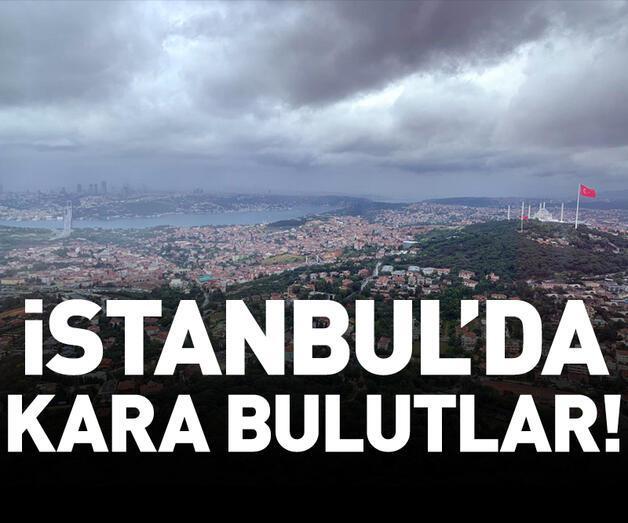 Son dakika: İstanbul'un üstündeki güneş ve kara bulutlar