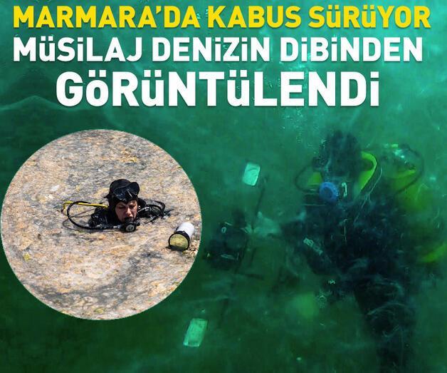 Son dakika: Marmara Denizi'nin dibindeki yoğun müsilaj görüntülendi