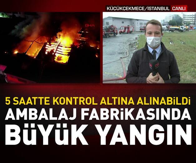 Son dakika: Ambalaj fabrikasında büyük yangın