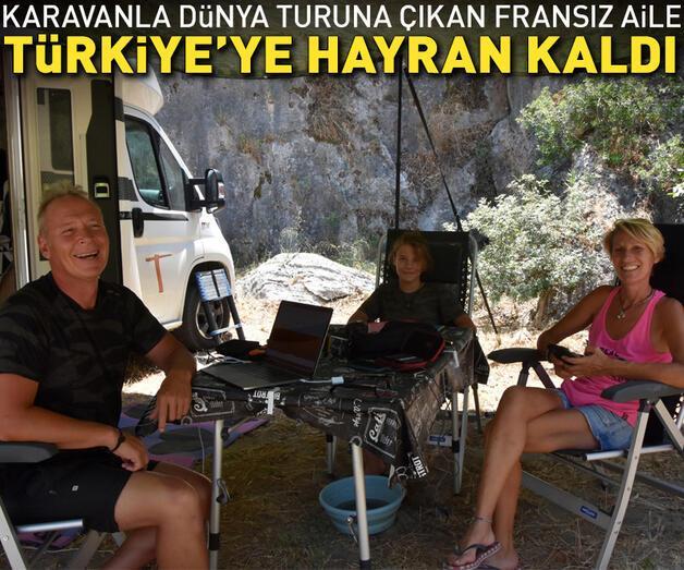Son dakika: Karavanla dünya turuna çıkan Fransız aile, Türkiye'ye hayran kaldı