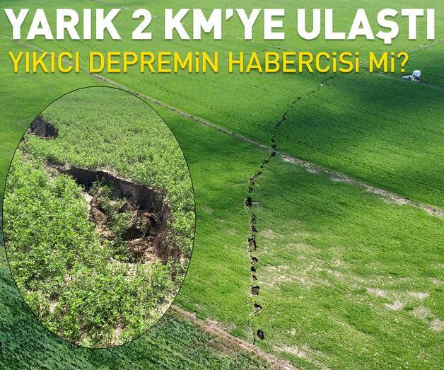 Son dakika: Afyonkarahisar'da arazide oluşan yarık 2 kilometreye ulaştı