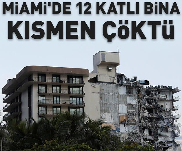 Son dakika: Miami'de 12 katlı bina kısmen çöktü