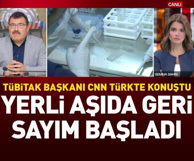 Son dakika: TÜBİTAK Başkanı CNN TÜRK canlı yayınında açıkladı