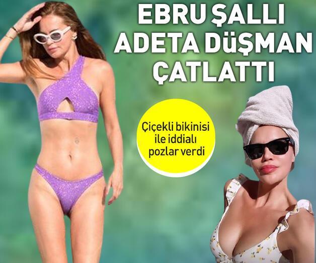 Son dakika: Ebru Şallı çiçekli bikinisi ile düşman çatlattı