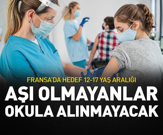 Son dakika: Aşı olmayanlar okula alınmayacak