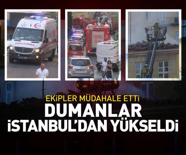 Son dakika: Dumanlar İstanbul'dan yükseldi!