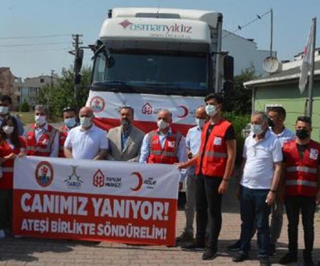 Son dakika: Darıca'dan, Manavgat'a TIR dolusu yardım