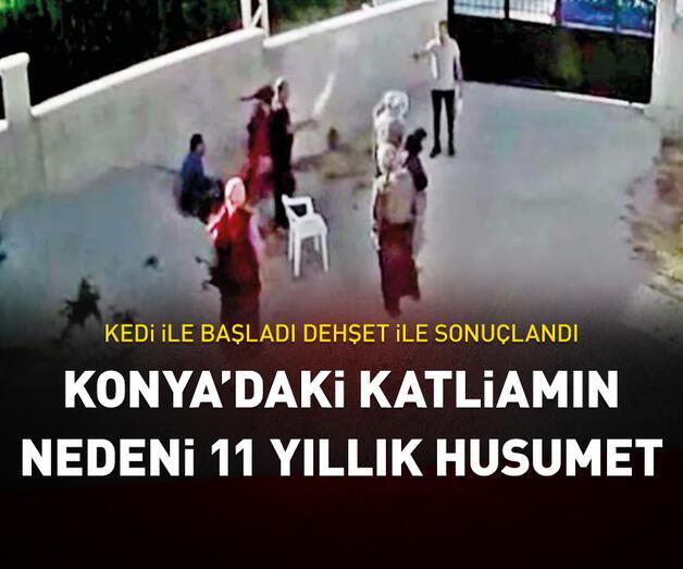 Son dakika: Konya'daki katliamın nedeni 11 yıllık husumet