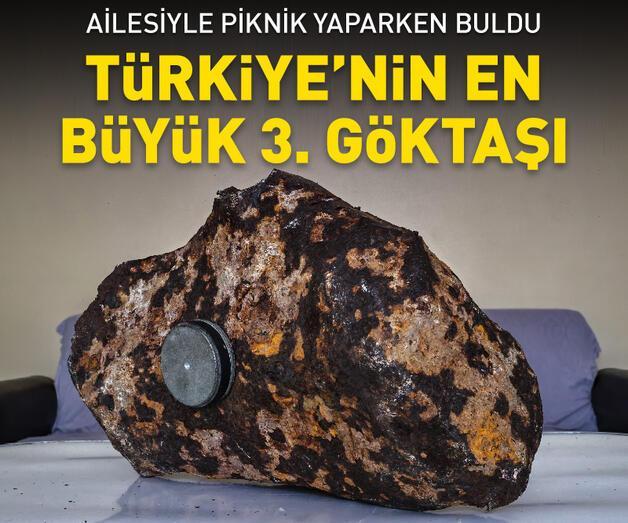 Son dakika: Türkiye'nin 3. büyük göktaşı: Tam 81 kilo
