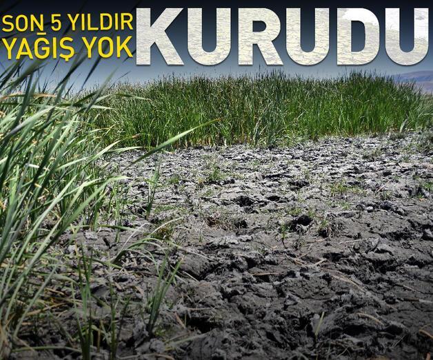 Son dakika: Kayseri'de kuraklık nedeniyle Yay Gölü kurudu