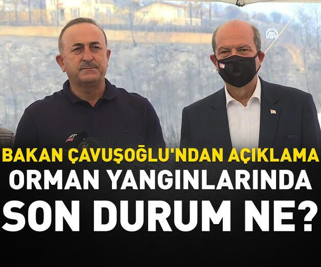 """Son dakika: Bakan Çavuşoğlu'ndan """"yangın"""" açıklaması"""