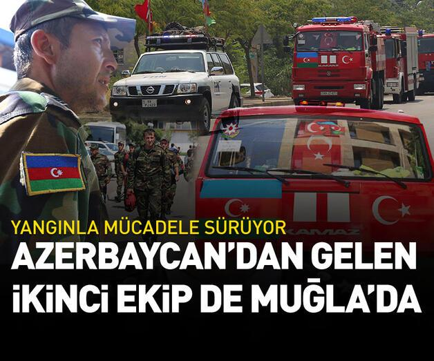Son dakika: Azerbaycan'dan gelen ikici ekip de Muğla'ya ulaştı