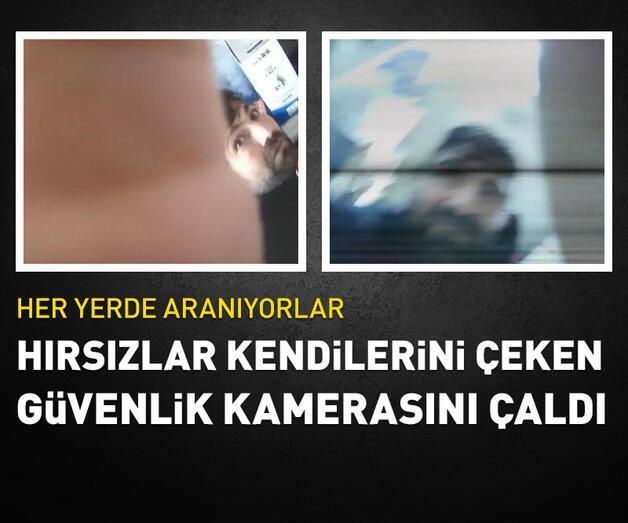 Son dakika: Hırsızlar, kendilerini görüntüleyen güvenlik kamerasını da çaldı