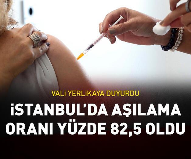 Son dakika: Vali Yerlikaya açıkladı: İstanbul'da aşılama oranı %82,5 oldu