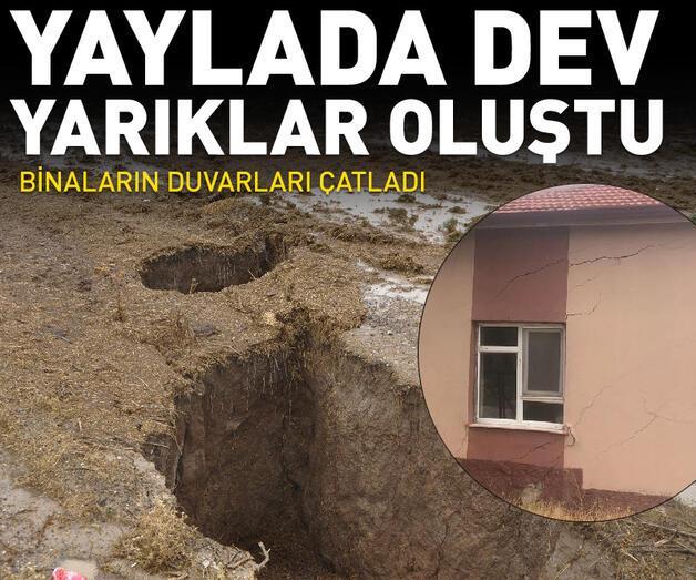 Son dakika: Konya'da yaylada dev yarıklar oluştu