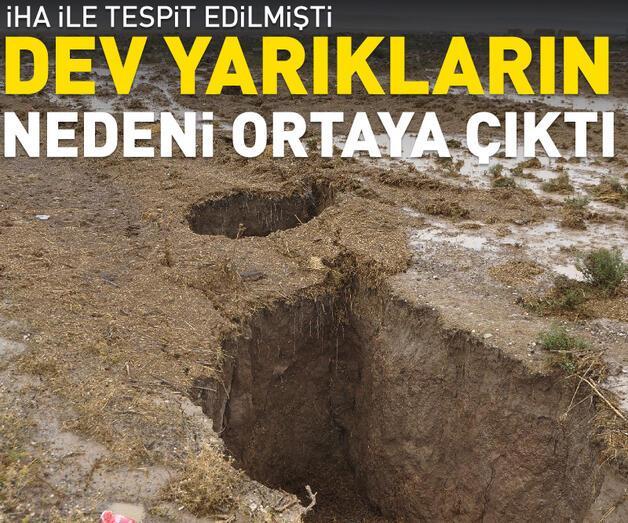 Son dakika: Konya'da dev yarıklar, yer altı su seviyesi azaldığı için oluşmuş