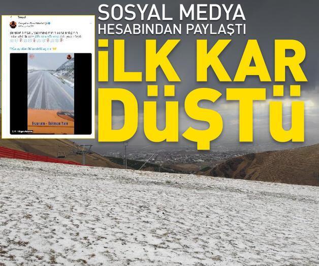 Son dakika: Erzurum'a ilk kar düştü