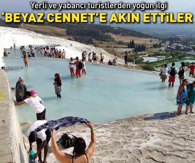 Son dakika: 'Beyaz cennet' Pamukkale'ye sonbaharda da yoğun ilgi