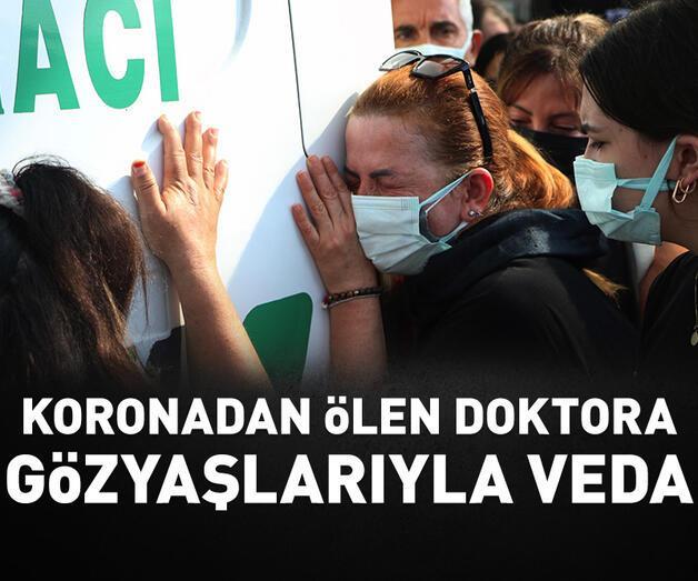 Son dakika: Koronavirüsten ölen doktora hastane önünde gözyaşlarıyla veda