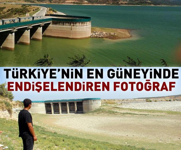 Son dakika: Hatay'da kuraklık Yarseli Barajı'nı vurdu
