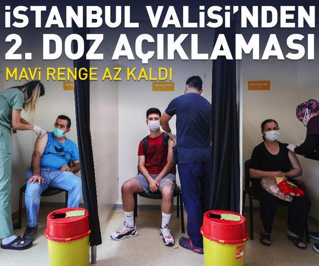 Son dakika: Vali Yerlikaya: İstanbul'da 2. dozda mavi renk için 942 bin 341 kişi kaldı