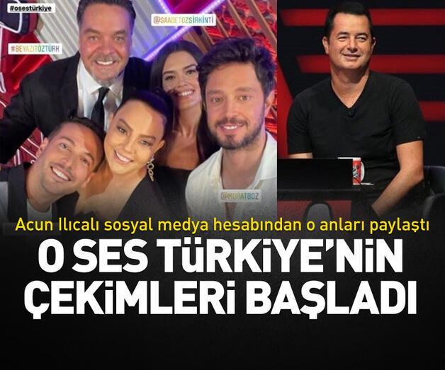 Son dakika: O Ses Türkiye'nin çekimleri başladı! Acun Ilıcalı sosyal medya hesabından paylaştı