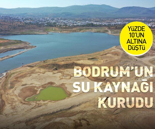 Son dakika: Bodrum'un suyunu karşılayan Mumcular Barajı kurudu