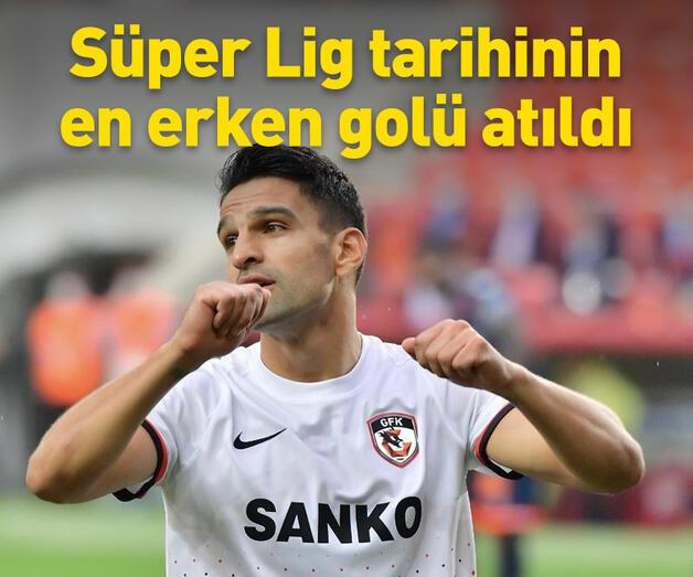 Son dakika: Süper Lig tarihinin en erken golü atıldı
