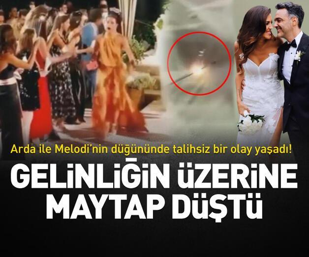 Son dakika: Düğününde talihsiz bir olay yaşadı! Gelinliğin üzerine maytap düştü
