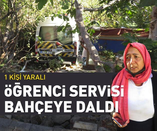 Üsküdar'da okul servisi bir evin bahçesine girdi: 1 yaralı