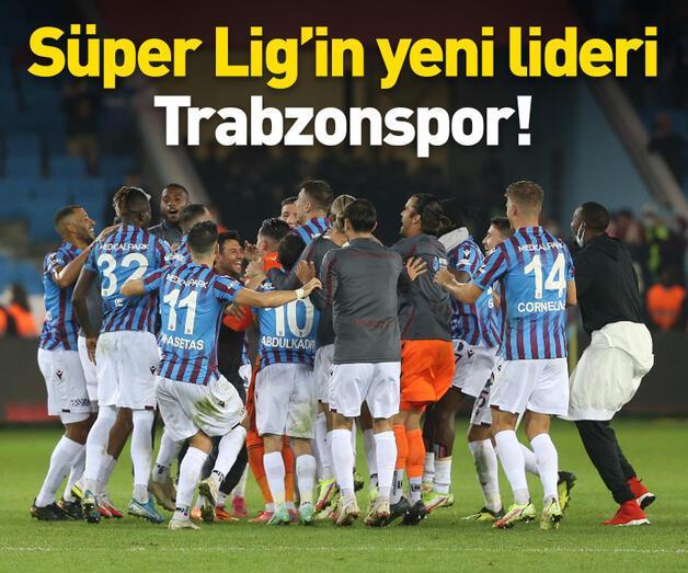Son dakika: Süper Lig'de lider Trabzonspor oldu