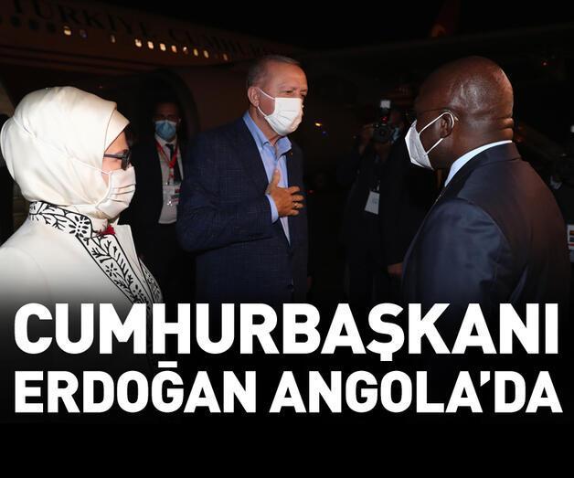 Son dakika: Cumhurbaşkanı Erdoğan Angola'da