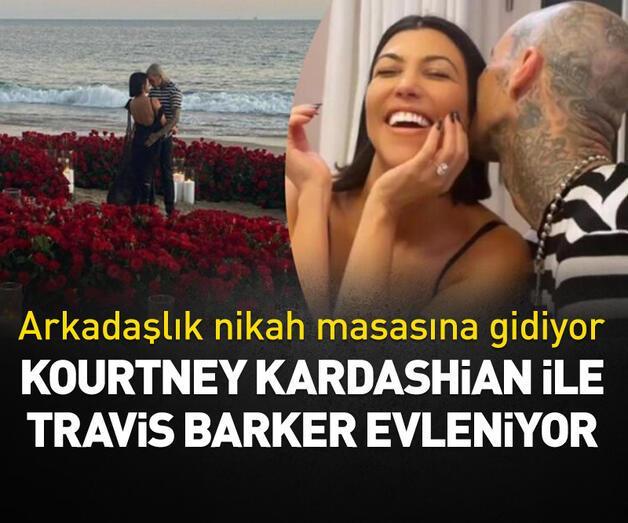 Son dakika: Kourtney Kardashian ile Travis Barker evleniyor
