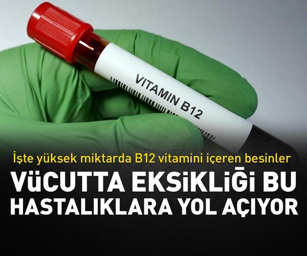 Son dakika: B12 eksikiği bu hastalıklara yol açıyor!