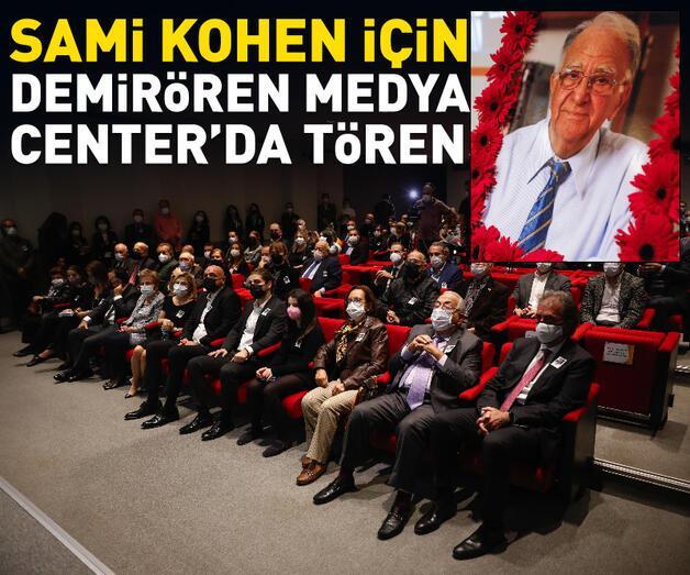 Son dakika: Gazeteci Sami Kohen için Demirören Medya Center'da tören