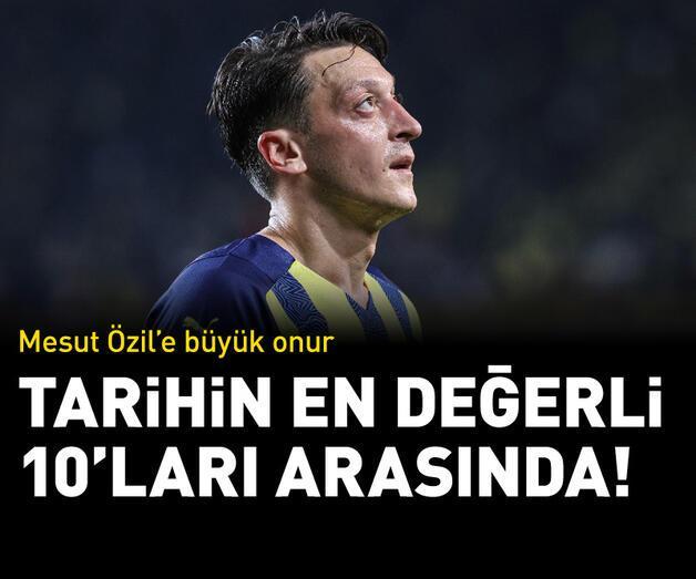 Son dakika: Mesut Özil'e büyük onur! En değerliler listesinde